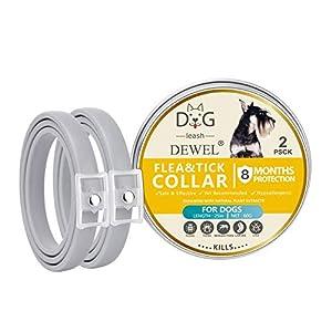 2pcs collier anti-puces et tick pour chien chat de 8 mois protection efficace collier anti-moustique réglable anti-puces col de contrôle de l'huile essentielle
