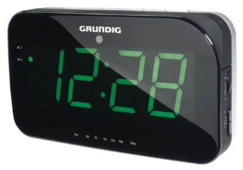 Grundig Sonoclock 490, 200 x 55 x 120 mm, Negro, Gris - Despertador