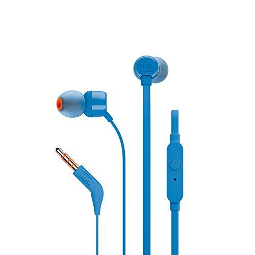 JBL T160 in-Ear Headphones with Mic (Blue)