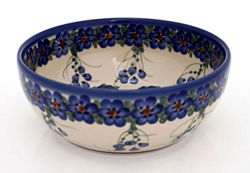 Hand Painted Dessert (Classic Boleslawiec Pottery Hand Painted Ceramic Bowl 950ml 073-U-001 by BCV Boleslawiec Pottery)