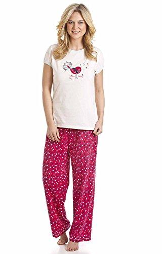 3 bulles de snowboard pour femme Imprimé de pyjama Long en polaire & lit 57501 Jacket Rouge - Rouge