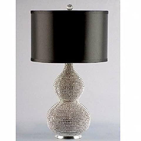 Silver plated Pearl gourd table lamp living room luxury atmosphere model table lamp D340*H520mm