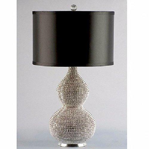 Versilberte Perle Kürbis Tischleuchte Wohnzimmer luxuriöse Atmosphäre Modell Tischleuchte D340*H520mm