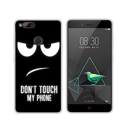 Easbuy Handy Hülle Soft Silikon Case Etui Tasche für ZTE Nubia Z17 Mini Smartphone Cover Handytasche Handyhülle Schutzhülle
