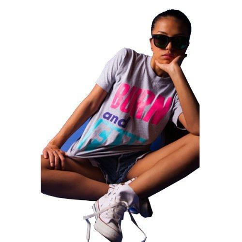 Pizoff Unisex Hip Hop Kurz Schwarz T Shirt mit Ziffer Druckmuster Metall Stern Y0374-gray