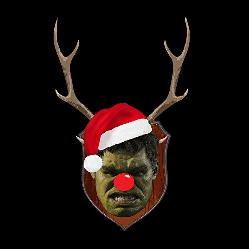 Incredible Hulk Christmas Antler Head Women's Vest Black