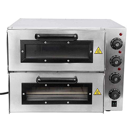 Bhavya store Commercial Double Deck Stone Based Pizza Oven (Silver, 16x16 inch)