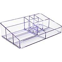 Boxalls Organizzatore Trucchi Trasparente in Acrilico con Scompartimento Alex Gioielli & Slot Cosmetici (Viola Trasparente)