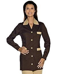 Isacco-túnica médica Marbella, Color marrón Chocolate ...