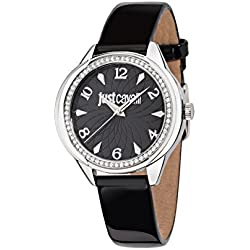 Just Cavalli Women's Quartz Watch with Silver JC01 Analog Quartz Leather R7251571505