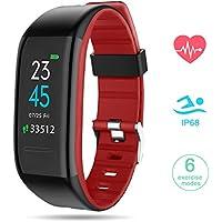 GOKOO Smartwatch Sportif Montre Connectée Sport Bracelet Écran Couleur Étanche IP68 Femme Homme Enfant Cardio Fitness Podomètre Tracker d'Activité Cardiofréquencemètre pour Android iOS Smartphone