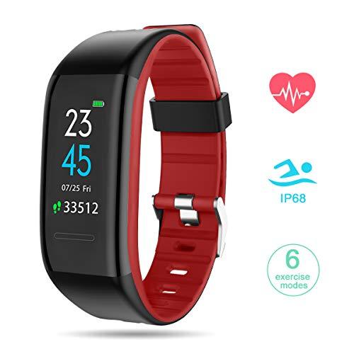 GOKOO Smartwatch Fitness Tracker, Orologio Fitness Uomo attività Tracker Schermo a Colori Braccialetto Impermeabile IP68 Cardiofrequenzimetro Monitor del Sonno per Uomo Donna per Android e iOS