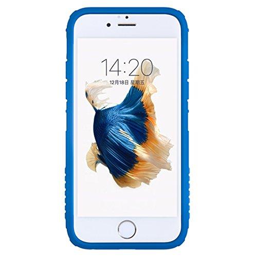 Phone case & Hülle Für IPhone 6 Plus / 6s Plus, Battle Suit Shape Colorized TPU + Transparente PC Schutzhülle Back Cover ( Color : Black ) Blue