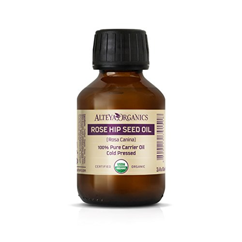 Alteya Organic Huile d'églantier 100ml - Certifiée 100% organique USDA Pure Bio Naturelle Huile de porteur d'églantier pressée à froid- Hydratant, nourrissant, anti-âge, soins et traitement de la peau de qualité thérapeutique supérieure