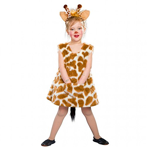 Kostüm Giraffe Kinder - Kostüm Giraffen Mädchen Lena Kleid Haarreif Tierkostüm Fasching Giraffe (98/104)