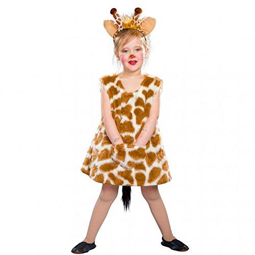 Kostüm Giraffe Haarreif - Kostüm Giraffen Mädchen Lena Kleid Haarreif