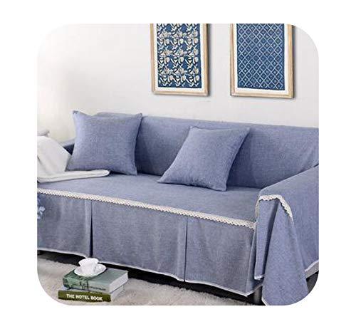 Agust D Leinen Polyester-Sofa-Abdeckung Handtuch Slipcover 1/2/3/4 Sitz Single/Zwei/DREI/Vier Seater Stretch koreanische Abdeckung für Couch Sofa, 08 Sofa Handtuch 1Pcs, Links Chaise 170X260 -