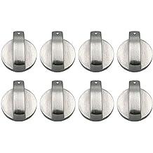 8 Unids Botones Horno, Gosear Universal Metal Interruptores Giratorios Interruptores de Control Accesorios de Repuesto