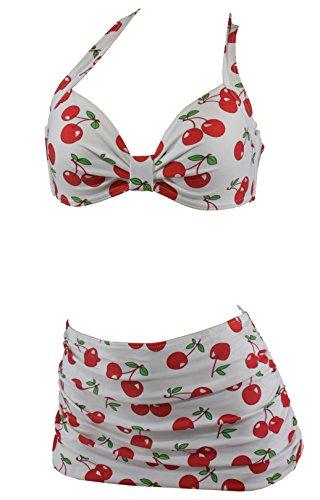 Aloha-Ropa de playa Cherry rockabilly cerezas Burlesque diseño retro de bragas bikini para mujer A1041 multicolor extra-large