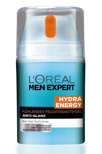 L'Oreal Men Expert Hydra Energy Kühlendes Feuchtigkeits-Gel, Anti-Glanz, 50 ml