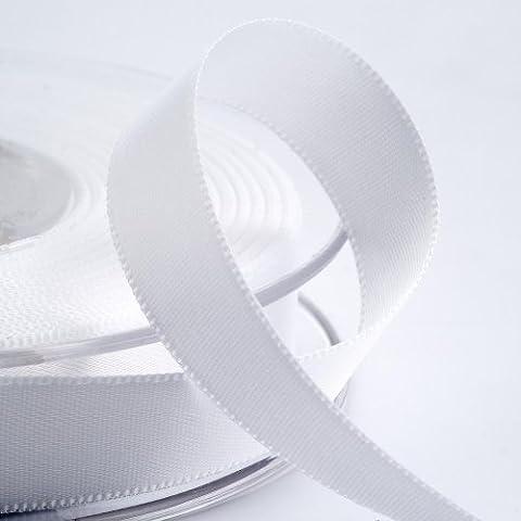 Nastro di raso, 10 mm x 25 m, colore: bianco