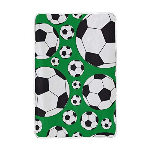 Weimilon palloni da calcio coperta calda casual chic morbida coperte da tiro leggere per divano letto divano da viaggio campeggio 90x60 pollici per bambini ragazzi ragazze