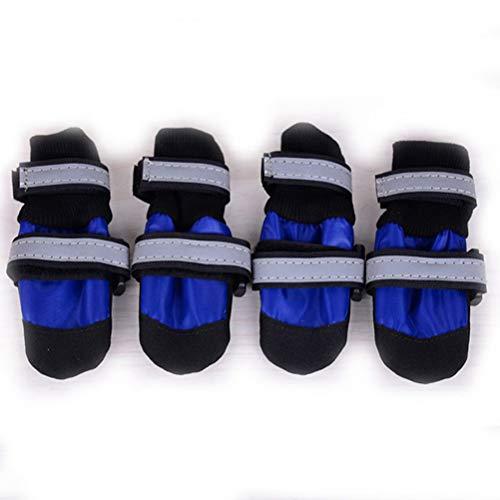 Haustier Schuhe Mit Reflektierenden Streifen Weichen Boden Wasserdichte Leichte Breakaway Aufwecken Für Großen Hund Frühling, Sommerschuhe