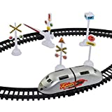 HK Toys High Speed Bullet Train Toy Set Game With Tracks And Signals For Kids - Battery Operated