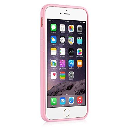 Coque iPhone 6s, Coque iPhone 6, Pasonomi® Housse Etui Shock-Absorption Bumper et Anti-Scratch Effacer Back pour Apple iPhone 6 2014 / iPhone 6s 2015 4.7 pouces (iPhone 6/6s, Jaune) Rose Gold