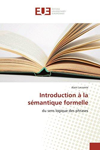 Introduction à la sémantique formelle