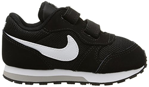 Nike Jungen Md Runner 2 Low-Top Schwarz (Black/White-Wolf Grey)