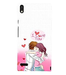 EPICCASE I Love You Mobile Back Case Cover For Huawei Ascend P6 (Designer Case)