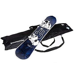 IVOL Wasserabweisende Snowboard-Tasche von Snowsportshop – 180 x 40 x 16 cm – Gepolstert und mit Tragegriffen/-Gurt
