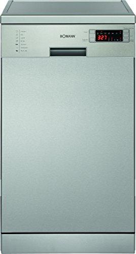 Bomann GSP 857 IX  freistehender Geschirrspüler / A++ / 225 kWh/Jahr / 45 cm / 11 MGD / 2380 L/jahr / elektronische Programmsteuerung / Edelstahl-Bedienblende mit LED-Display