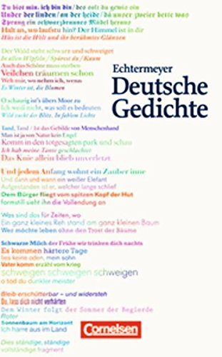 Echtermeyer: Deutsche Gedichte: Von den Anfängen bis zur Gegenwart