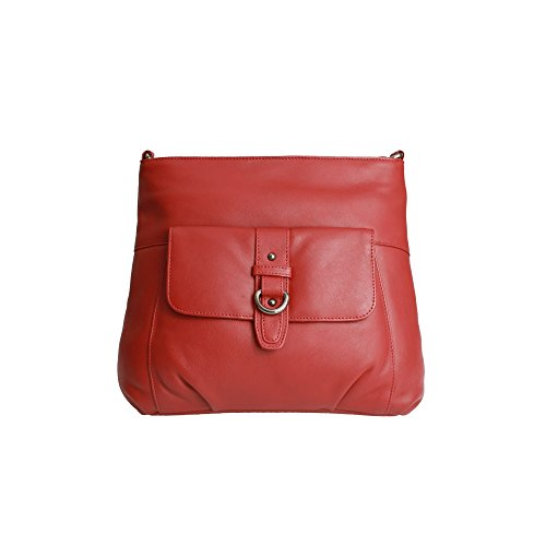 2018 Unisex Eastern Counties Leather- Jackie - Borsa con fibbia - Donna Rosso Venta Genuina Venta Asequible C3YH6bB