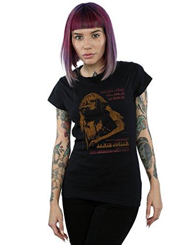 Janis Joplin Mujer Madison Square Garden Camiseta Large Negro