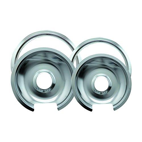Drip Pan Ring (Range Kleen Drip Pan & Trim Ring Chrome 1 Small/6 Pan & Ring and 1 Large/8 Pan & Ring - 4 Pack by Range Kleen)
