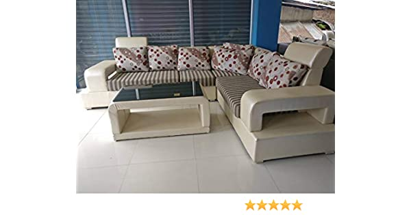 Best Furnitures Neam Wood L Shape Sofa Set 3 2 Corner Center Table