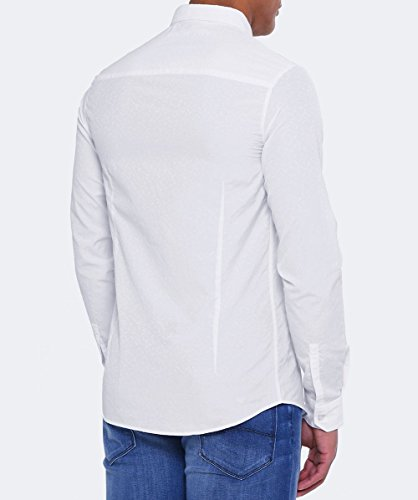 Armani Jeans Hommes Chemise slim fit dash fine LATTE Latte