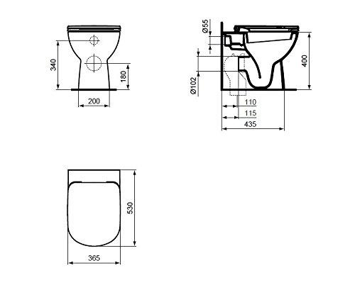 Ceramica Dolomite J523301 Toilettendeckel, Original der Produktreihe Gemma 2, aus Thermodur