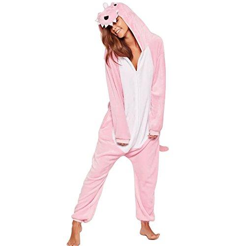 Kigurumi Pijama Animal - Pijama de Dinosaurio con Capucha para Adultos - Ropa de Dormir y Traje de Disfraz de Animal para Festival de Carnaval y Halloween