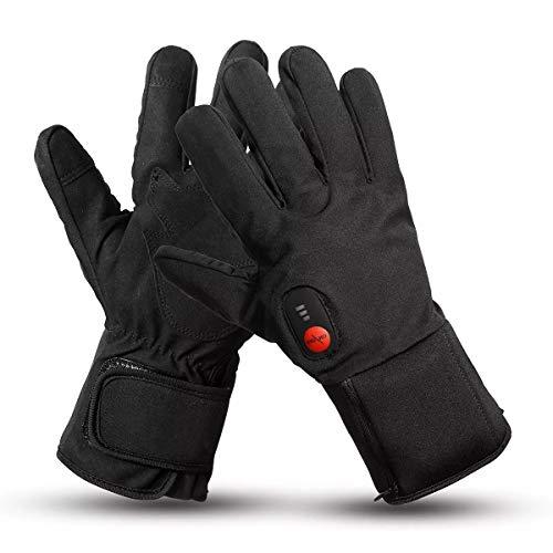 Antivento Guanti moto Winter Warmer Outdoor Sci 3 Velocità di regolazione 7.4V 2200mah elettrici riscaldati (Taglia : XL)