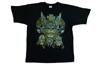 DarkArt-Designs Gothic T-Shirt Viking-Skulls regular fit, Black, M