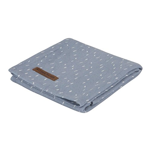 LITTLE DUTCH 3772 Muslin Swaddle Tuch / Pucktuch - sprinkles blue Gr. 120x120 cm