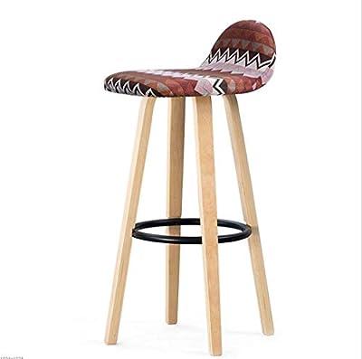 XRFHZT Bar-Stuhl Rückenlehne Schmiedeeiserne Bar Stuhl Zu Hause Moderne Minimalistische Bar Hocker Massivholz Hohen Hocker von XRFHZT - Gartenmöbel von Du und Dein Garten