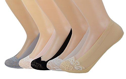 Gestreifte Low-cut-socken (SYAYA Mädchen Socken gestreift Low Cut Liner Socken No Show Boot Socks Women WWZ13 - - Einheitsgröße)