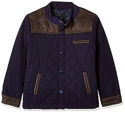 United Colors of Benetton Boys Jacket (16A2JACK0015IK25EL_Royal Blue)