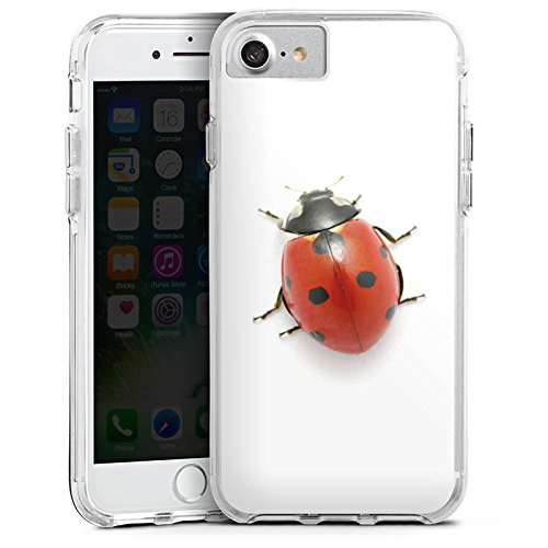 Apple iPhone X Bumper Hülle Bumper Case Glitzer Hülle Kaefer Insekt Glücksbringer Bumper Case transparent