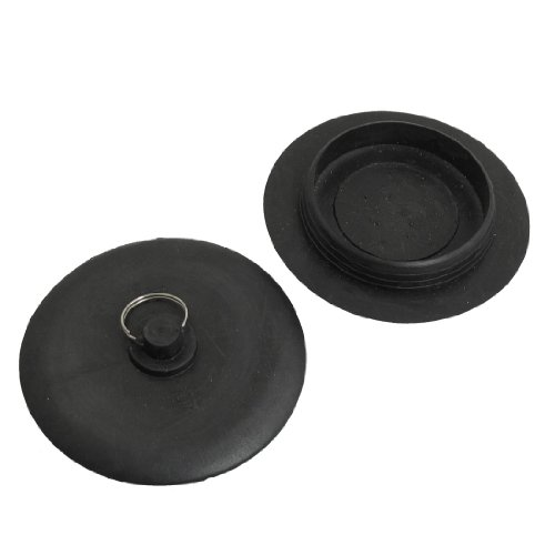 sourcingmap-rubber-sink-drainer-garbage-disposal-stopper-kitchenware-2-pcs-black